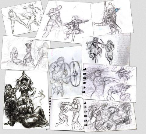 traningsteckningars-utkast-collage