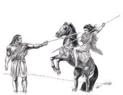 Kati till Häst, Yakane till fots träning