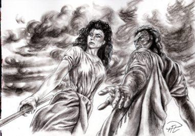 Corinna & Yakane ser ner på Kati Kolkrita m bakgrund
