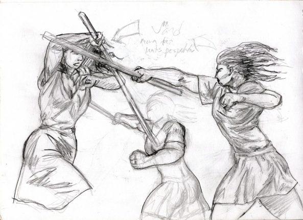 Katis utfall vs Corinna utkast lounge warrior women