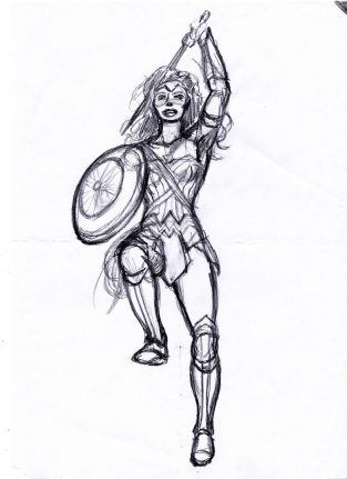 Wonder Woman Mirakelkvinnan utkast
