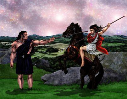 Kati Spjut t häst Yakane Fot träning m bakgrund färglagd lagersamlad