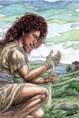 Kati lindar sina händer - målad akvarell (doc)2 denoiced mod