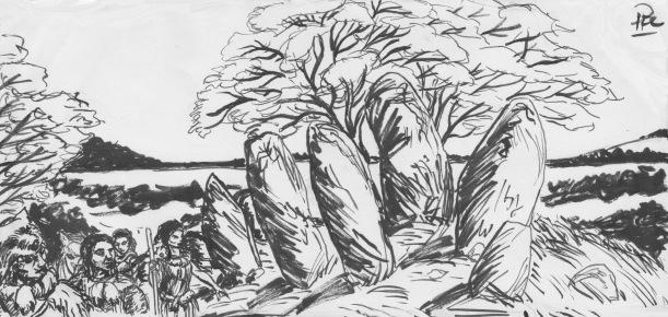 Bautastenar menhir i Landet Bortom, Kati, Yakane & Corinna
